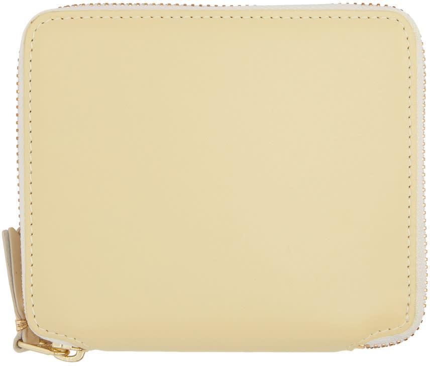 Image of Comme Des Garçons Wallets Beige Classic Zip Wallet