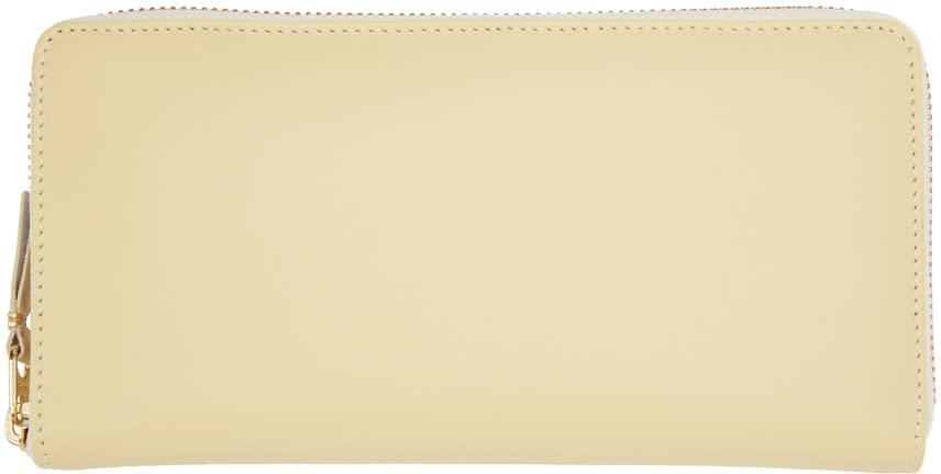 Image of Comme Des Garçons Wallets Beige Continental Wallet