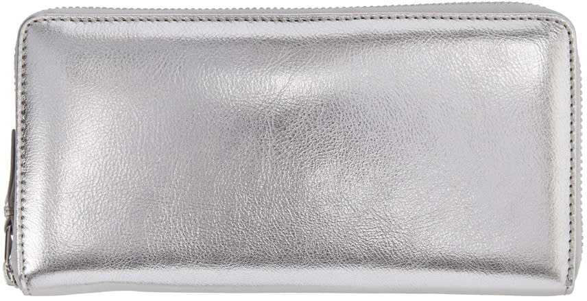 Comme Des Garçons Wallets Silver Continental Wallet