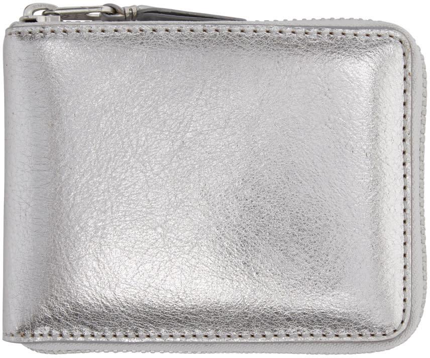 Comme Des Garçons Wallets Silver Zip-around Wallet