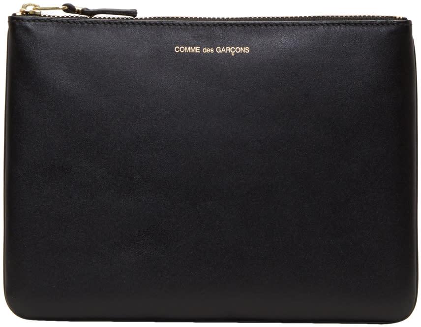 Image of Comme Des Garçons Wallets Black Classic Zip Pouch