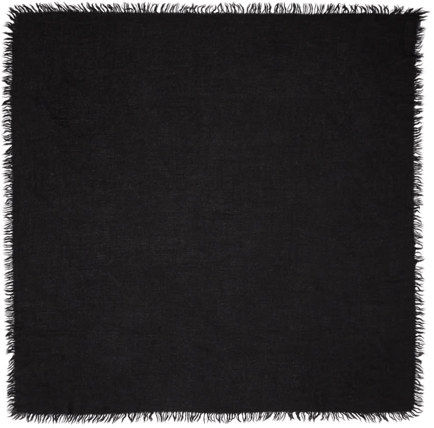 Image of Rick Owens Black Anona Scarf