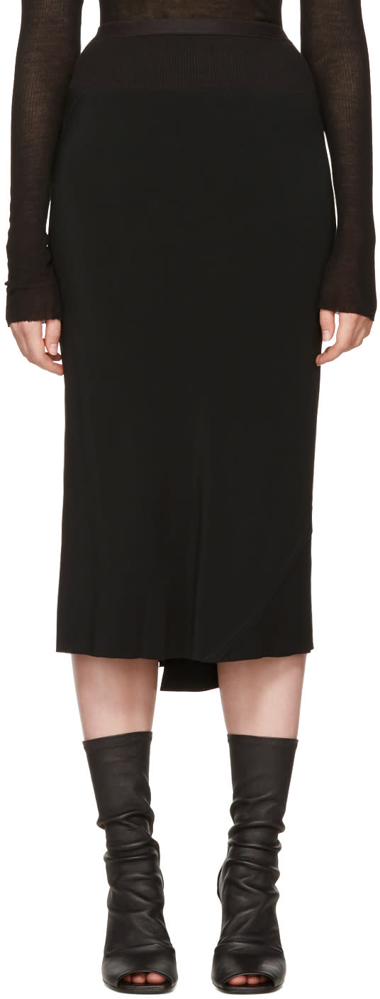 Rick Owens Black Knee Length Skirt
