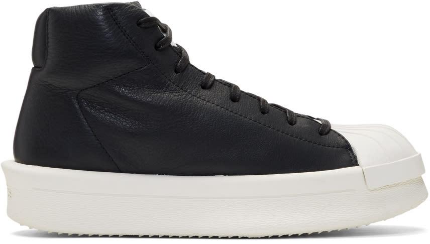 Image of Rick Owens Black Adidas Originals Edition Mastodon Sneakers