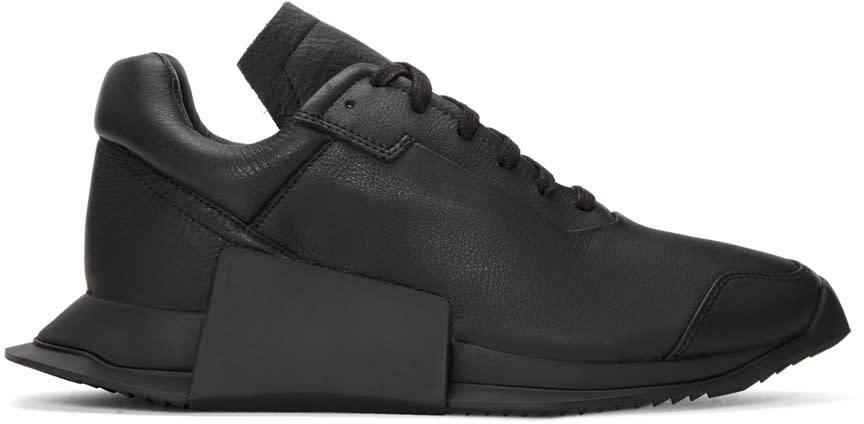 Image of Rick Owens Black Adidas Originals Edition New Runner Sneakers