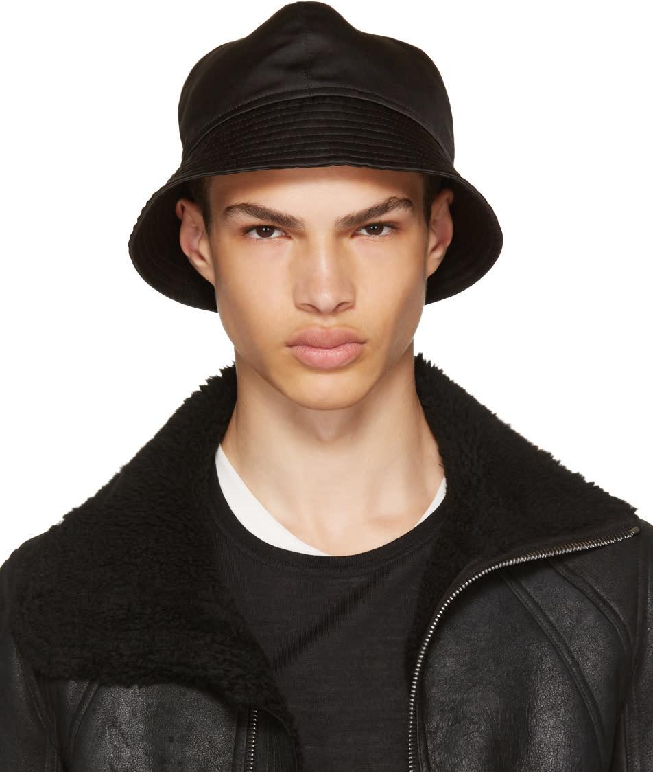 7b1e021dd3f75 Rick Owens Black Gilligan Bucket Hat