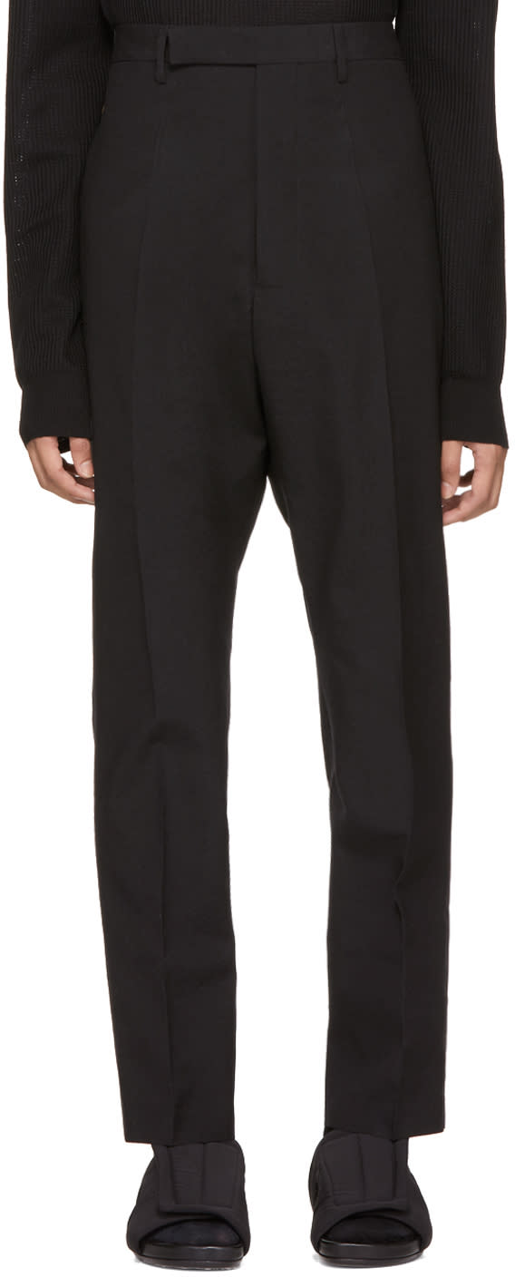 Image of Rick Owens Black Astaires Trousers
