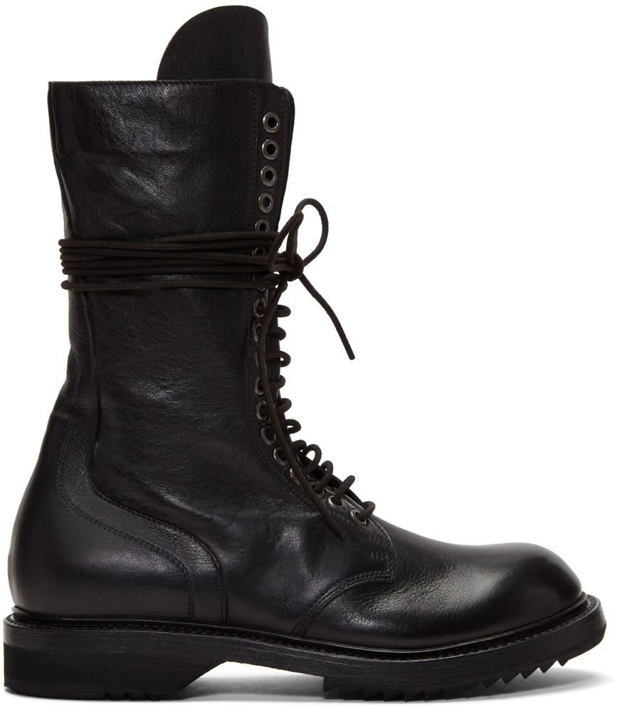 Image of Rick Owens Black Army Boots