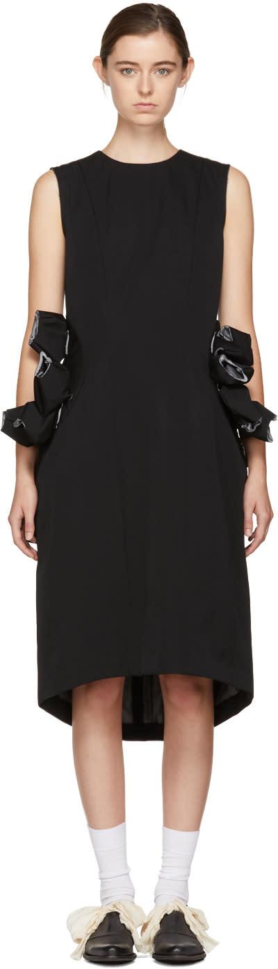 Comme Des Garçons Black Wool Attachments Dress