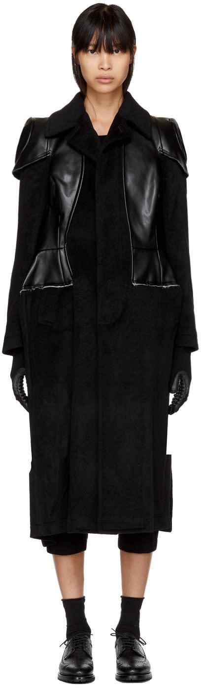 Image of Comme Des Garçons Black Angora Wool Coat