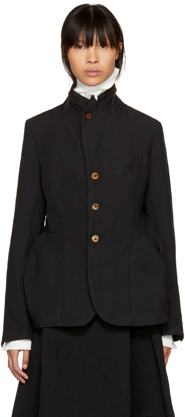 Image of Comme Des Garçons Black Button-up Jacket