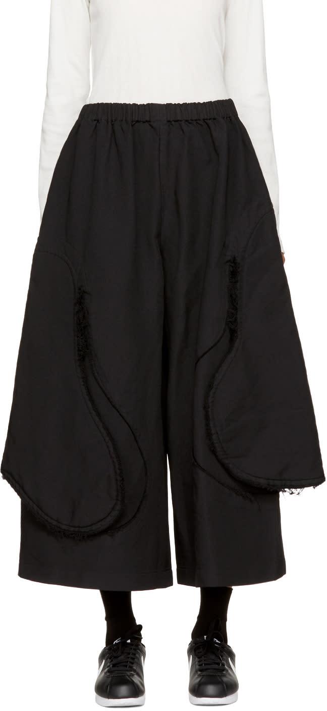 Image of Comme Des Garçons Black Cut-away Trousers