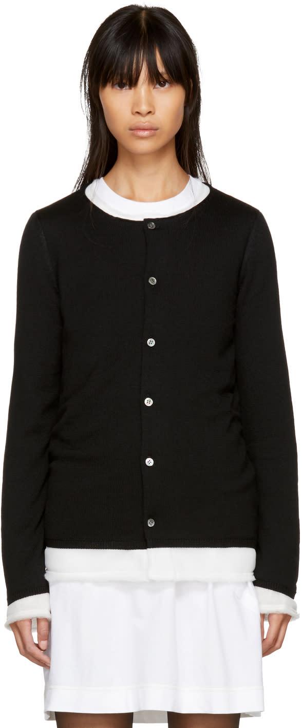 Image of Comme Des Garçons Black Layered Cardigan