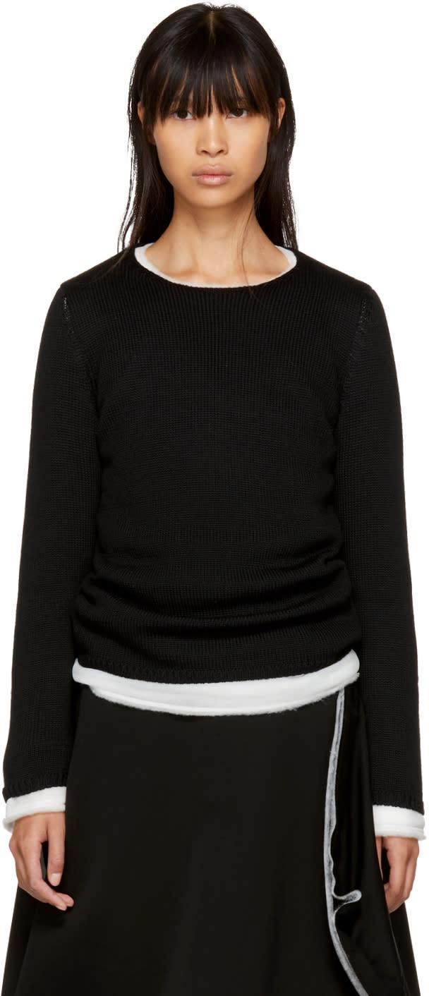 Image of Comme Des Garçons Black Layered Crewneck Sweater