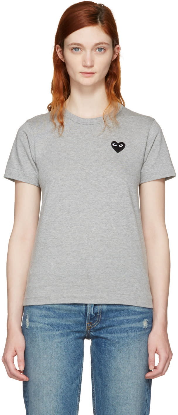 Comme Des Garcons Play Grey Small Heart T-shirt