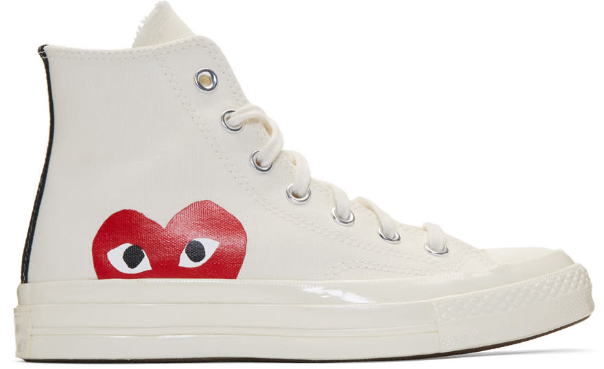 Comme Des Garcons Play Off-white Converse Edition Chuck Taylor All-star 70 High-top Sneakers