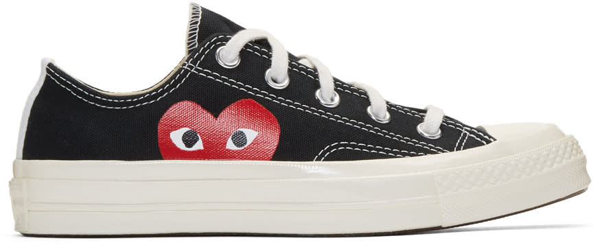 Image of Comme Des Garçons Play Black Converse Edition Chuck Taylor All-star 70 Sneakers