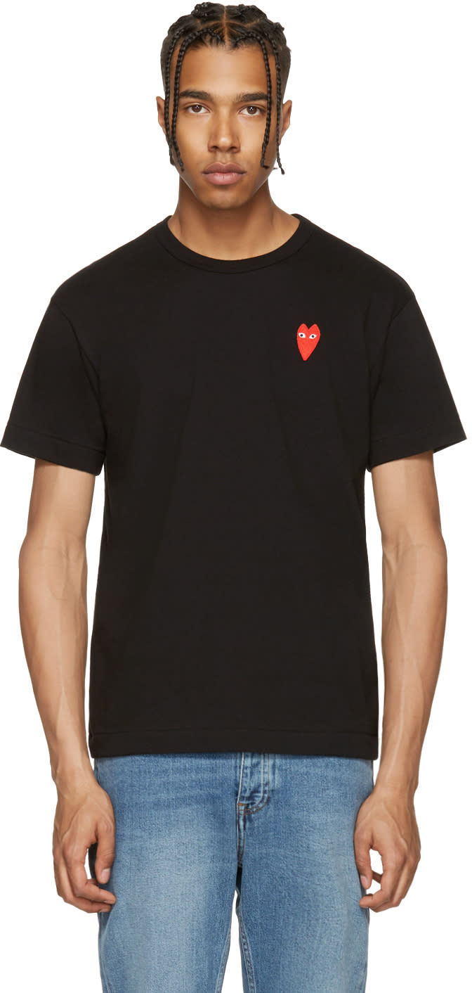 Comme Des Garcons Play Black Long Heart T-shirt