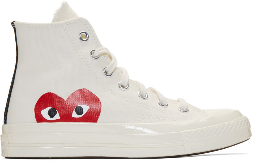 Comme Des Garçons Play Off-white Converse Edition Chuck Taylor All-star 70 High-top Sneakers