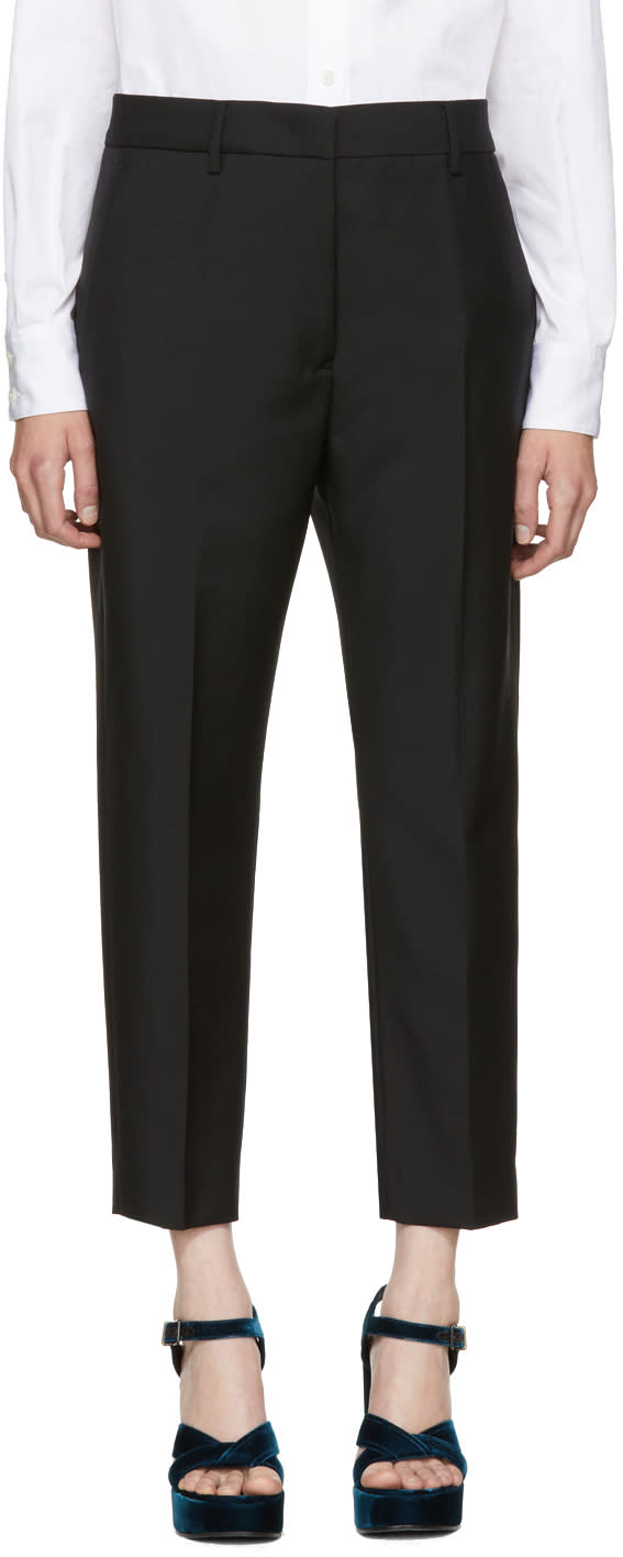Image of Jil Sander Black Cropped Donald Trousers