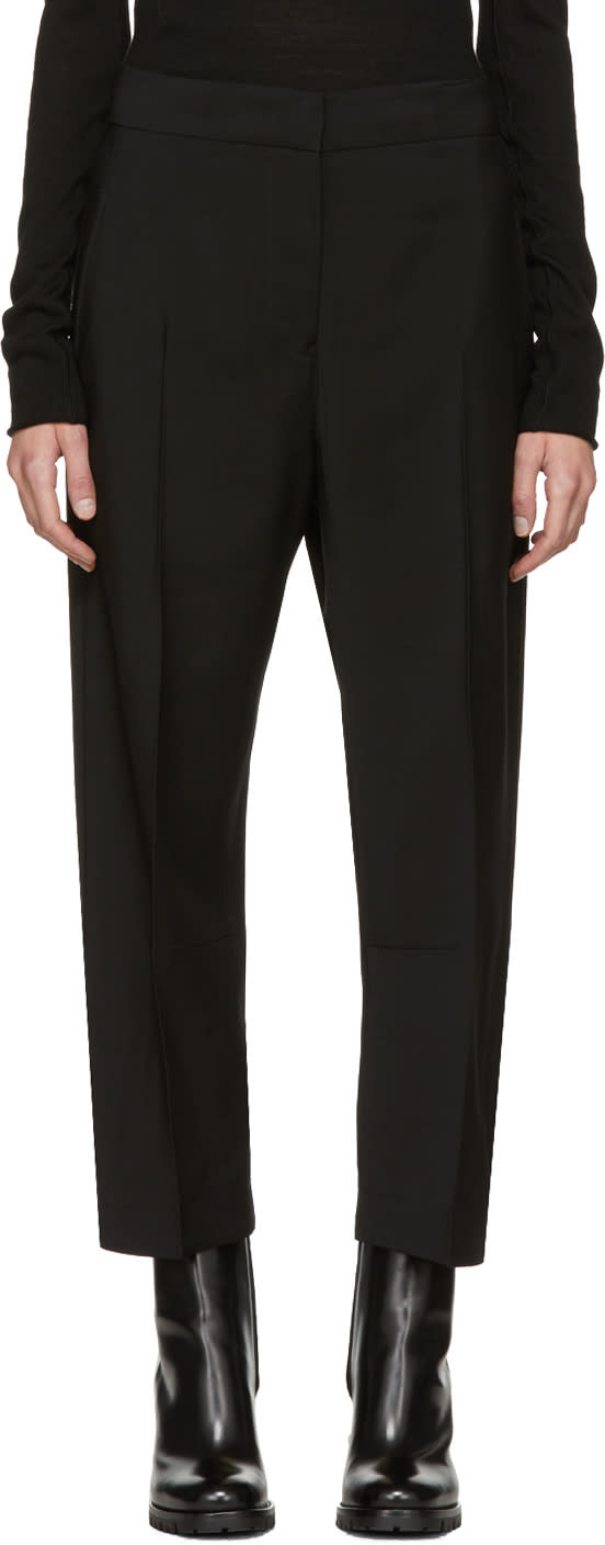 Image of Jil Sander Black Cropped Burt Trousers