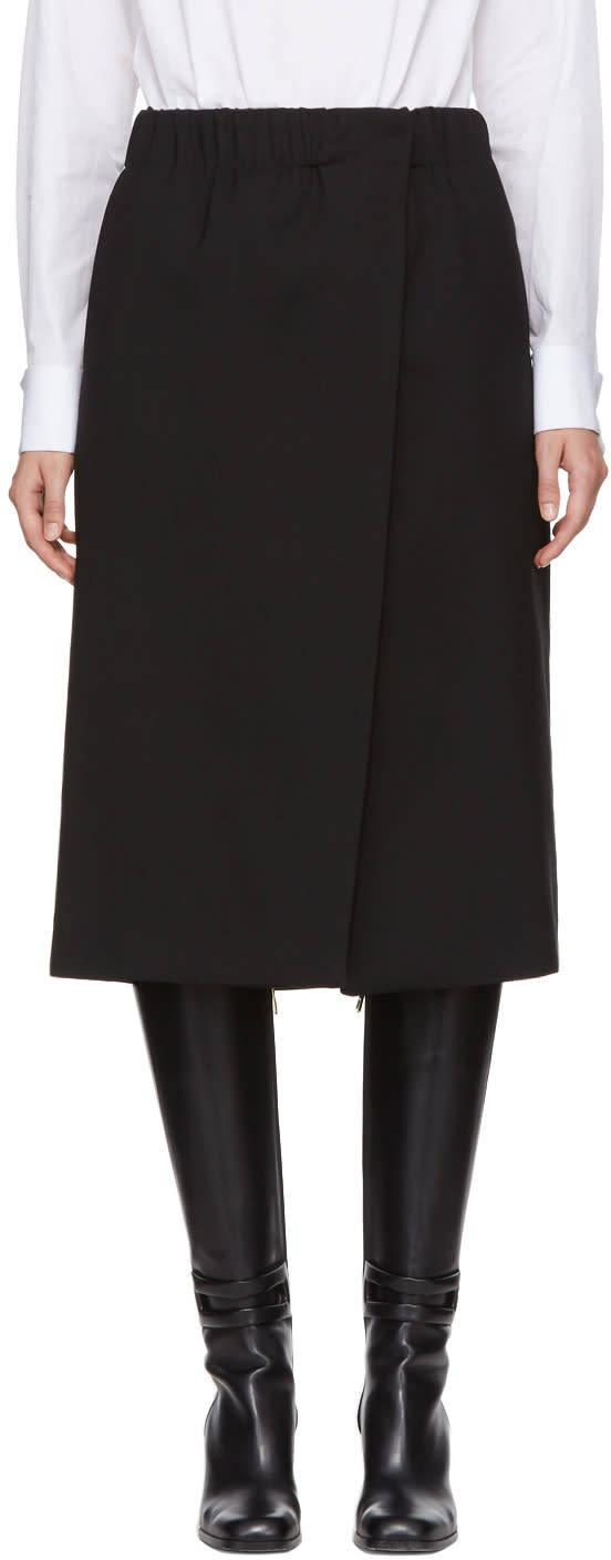 Image of Jil Sander Black Dedalo Wrap Skirt