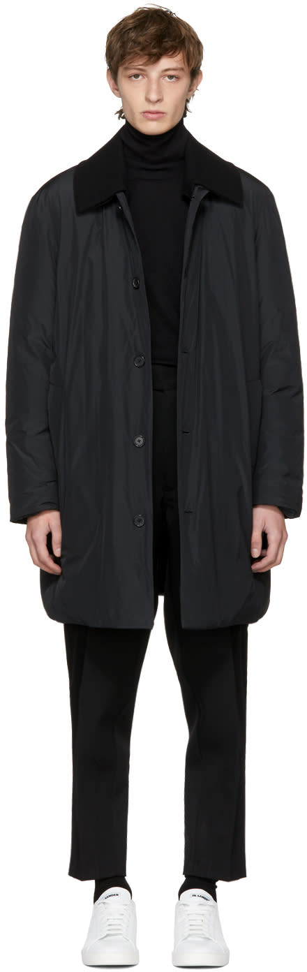 Image of Jil Sander Black Down Nippon Light Jacket