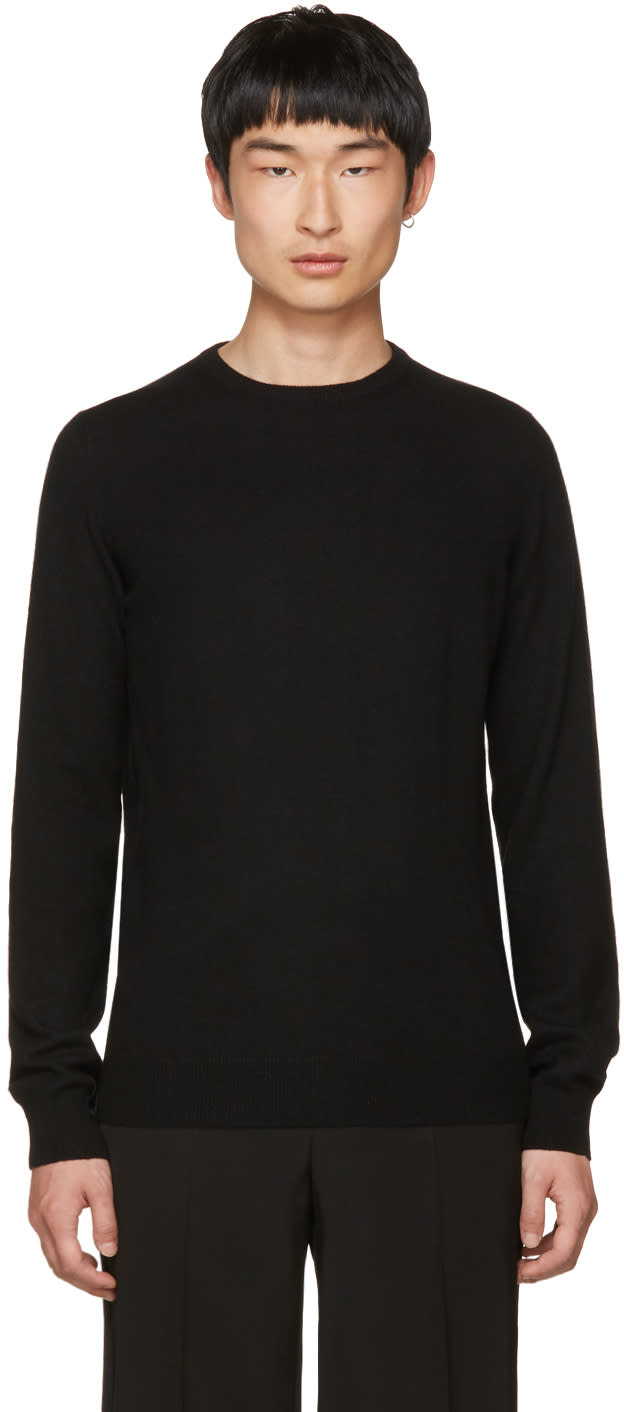 Image of Jil Sander Black Cashmere Crewneck Sweater