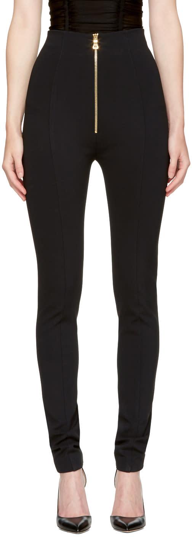 Balmain Black High-rise Skinny Trousers