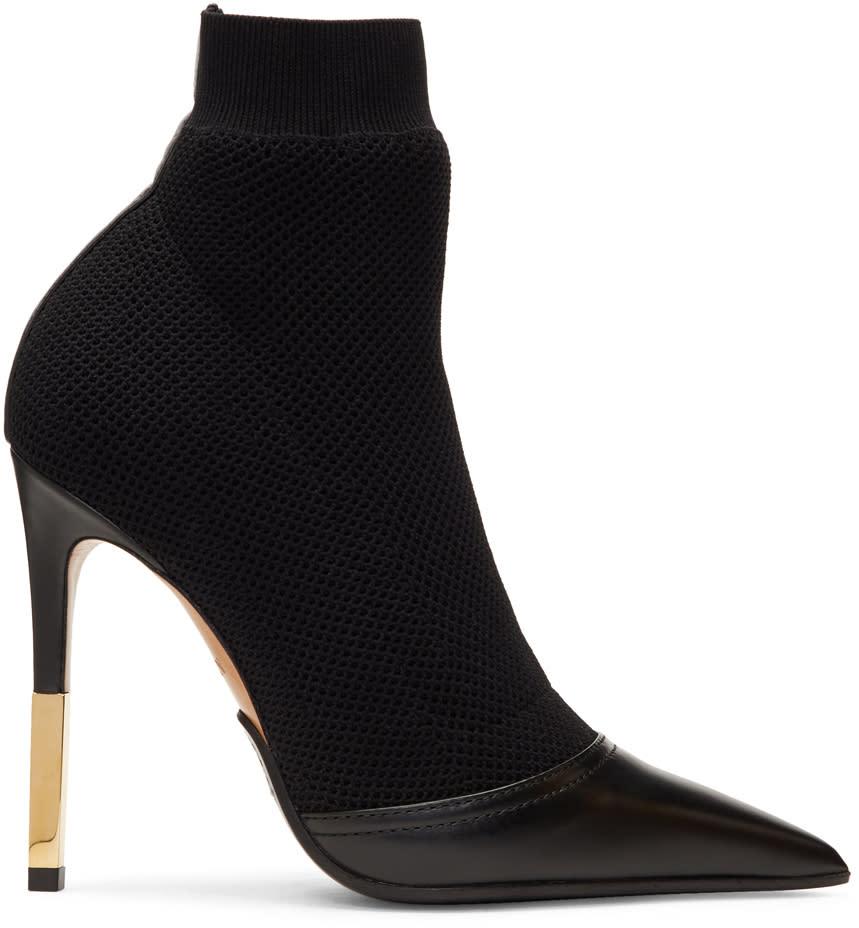 Balmain Bottes Noires Aurore Sock