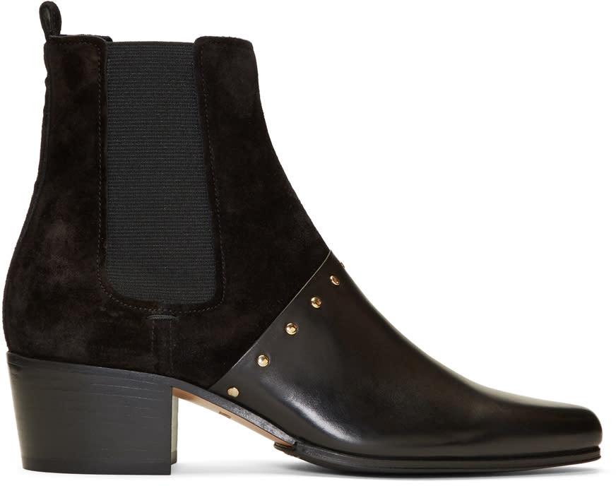 Image of Balmain Black Artemisia Chelsea Boots