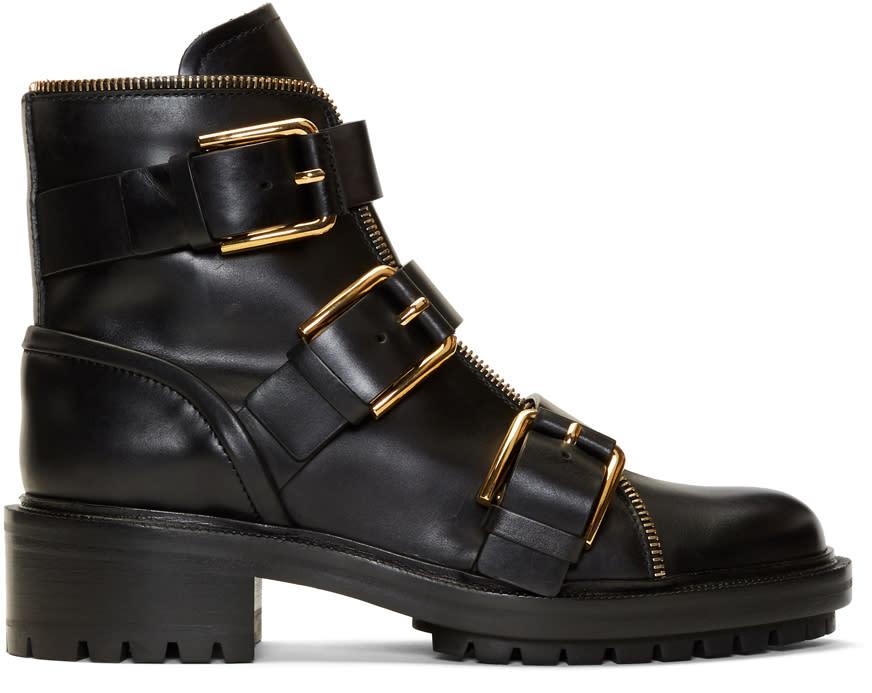 Image of Balmain Black Ambra Ranger Boots