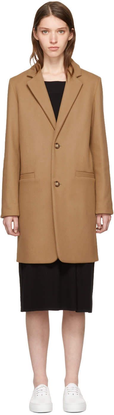 Image of A.p.c. Beige Wool Carver Coat