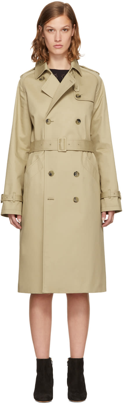 Image of A.p.c. Beige Greta Trench Coat