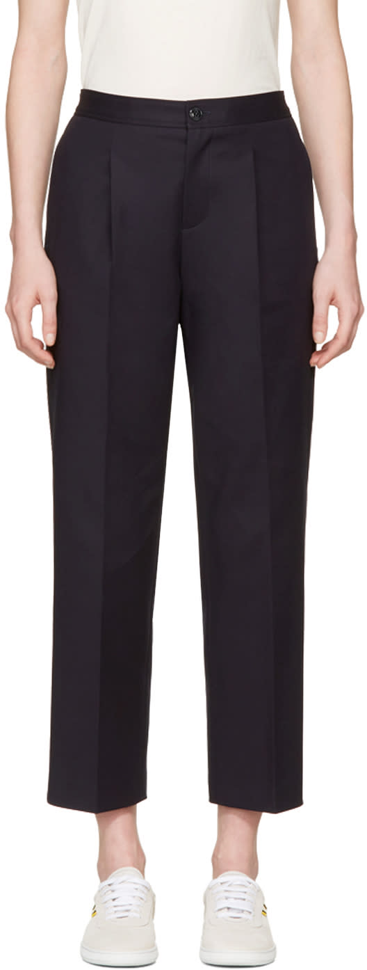 A.p.c. Navy Amalfi Trousers