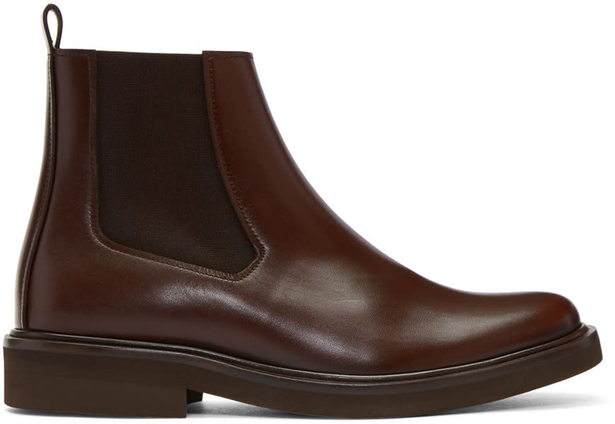 A.p.c. Brown Felicie Chelsea Boots