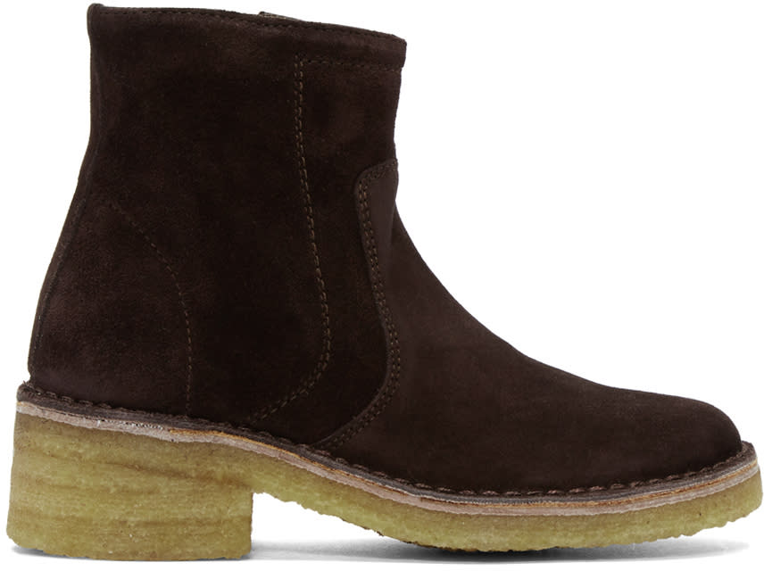 A.p.c. Brown Suede Armelle Boots