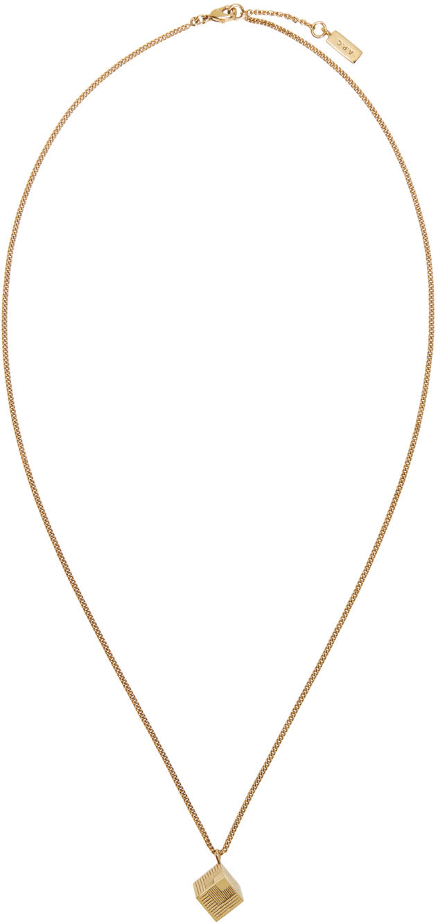 normal c product in jewelry apc a necklace gallery lyst gold p clint metallic