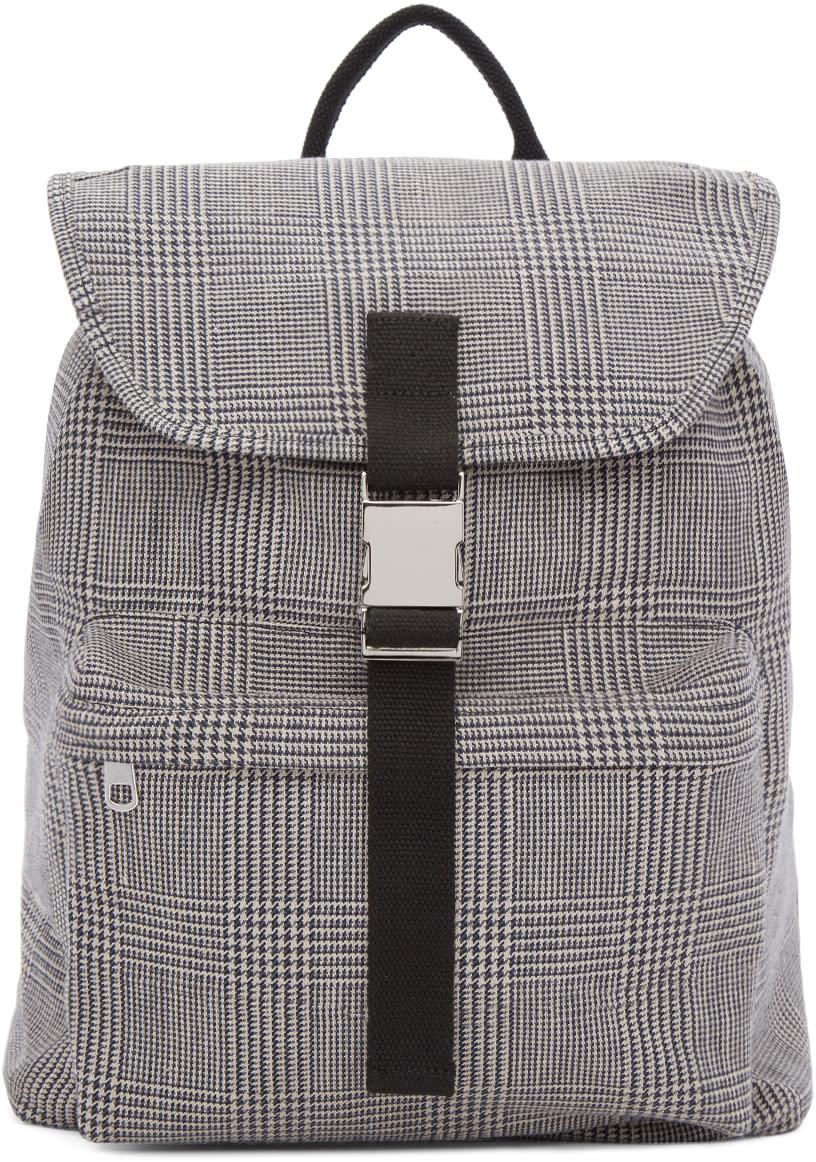 A.p.c. Black and White Clip Backpack