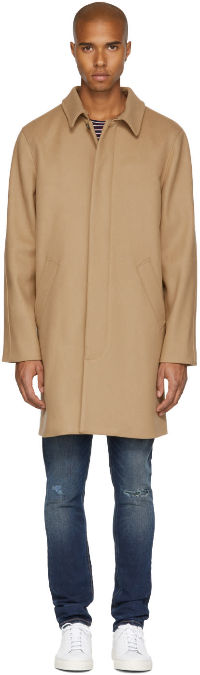 Image of A.p.c. Beige Auster Mac Coat