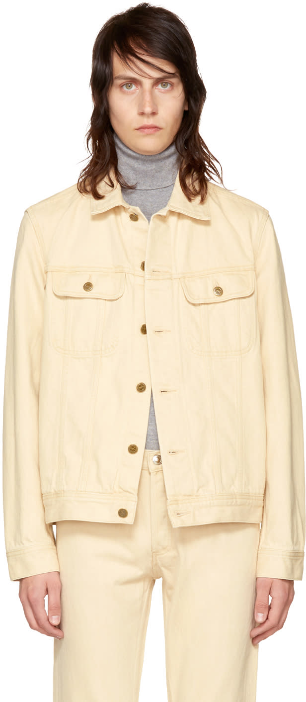 Image of A.p.c. Beige Denim Benjamin Jacket