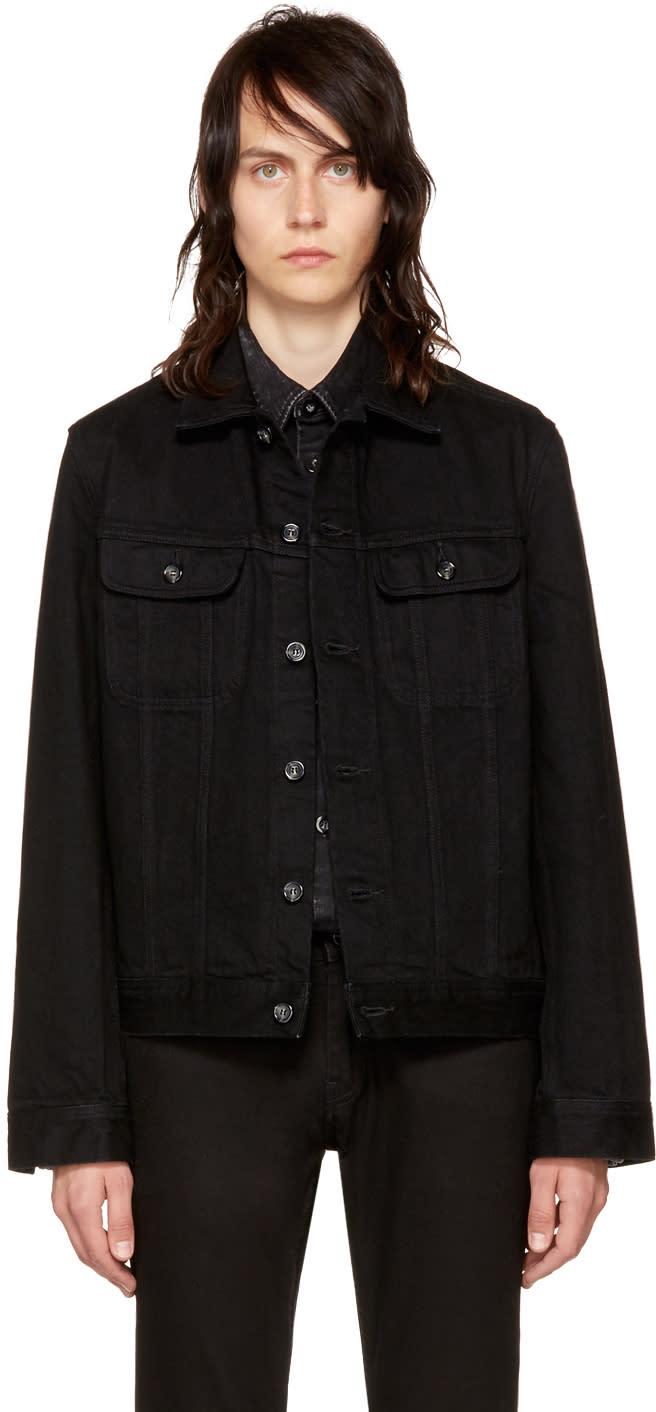A.p.c. ブラック デニム ベンジャミン ジャケット
