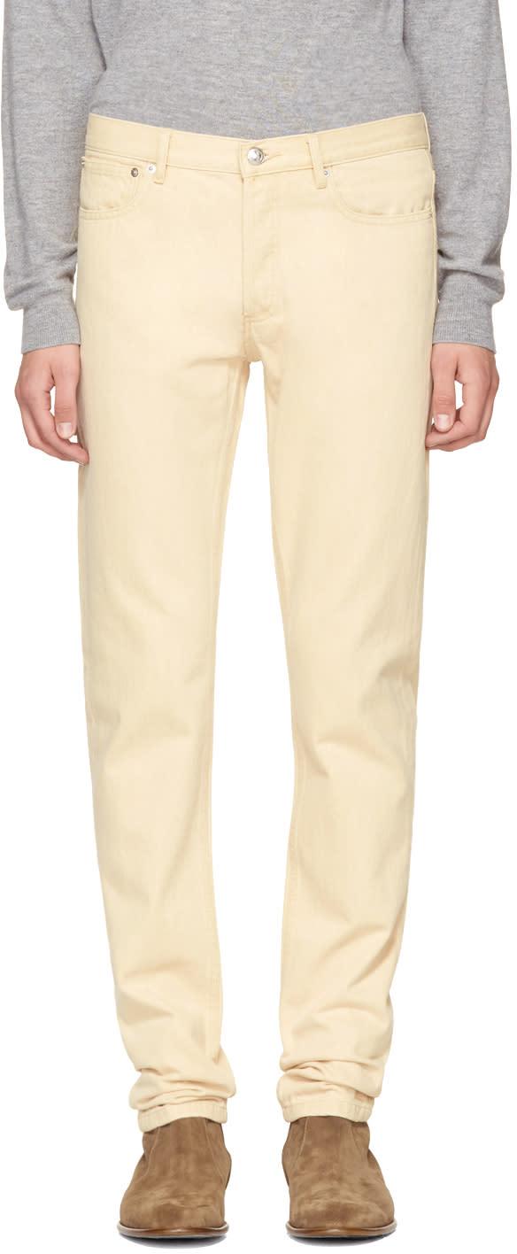 Image of A.p.c. Beige Petit New Standard Jeans