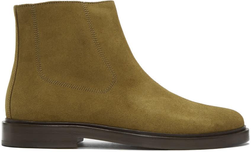Image of A.p.c. Beige Suede Leonard Boots