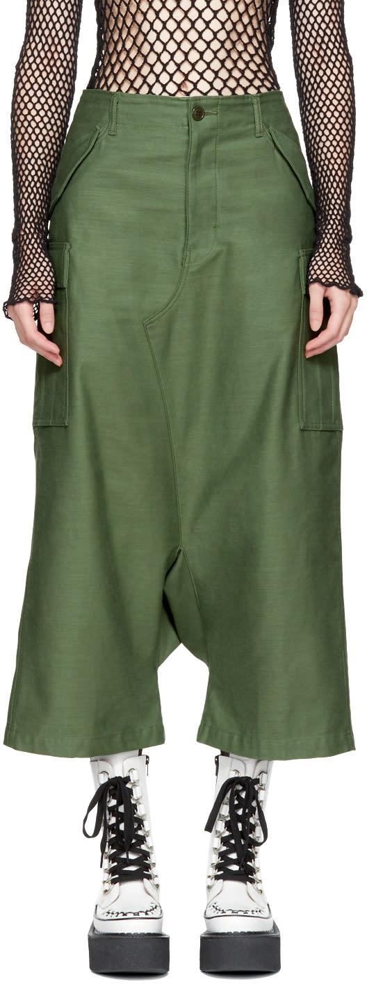 Junya Watanabe Pantalon Cargo En Coton Vert