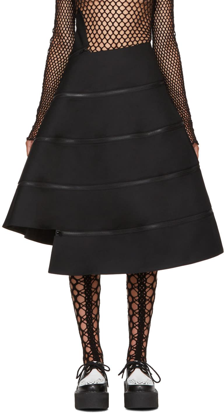 Image of Junya Watanabe Back Spiral Zipped Skirt