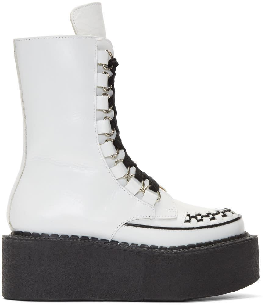 Junya Watanabe White Platform Creeper Boots
