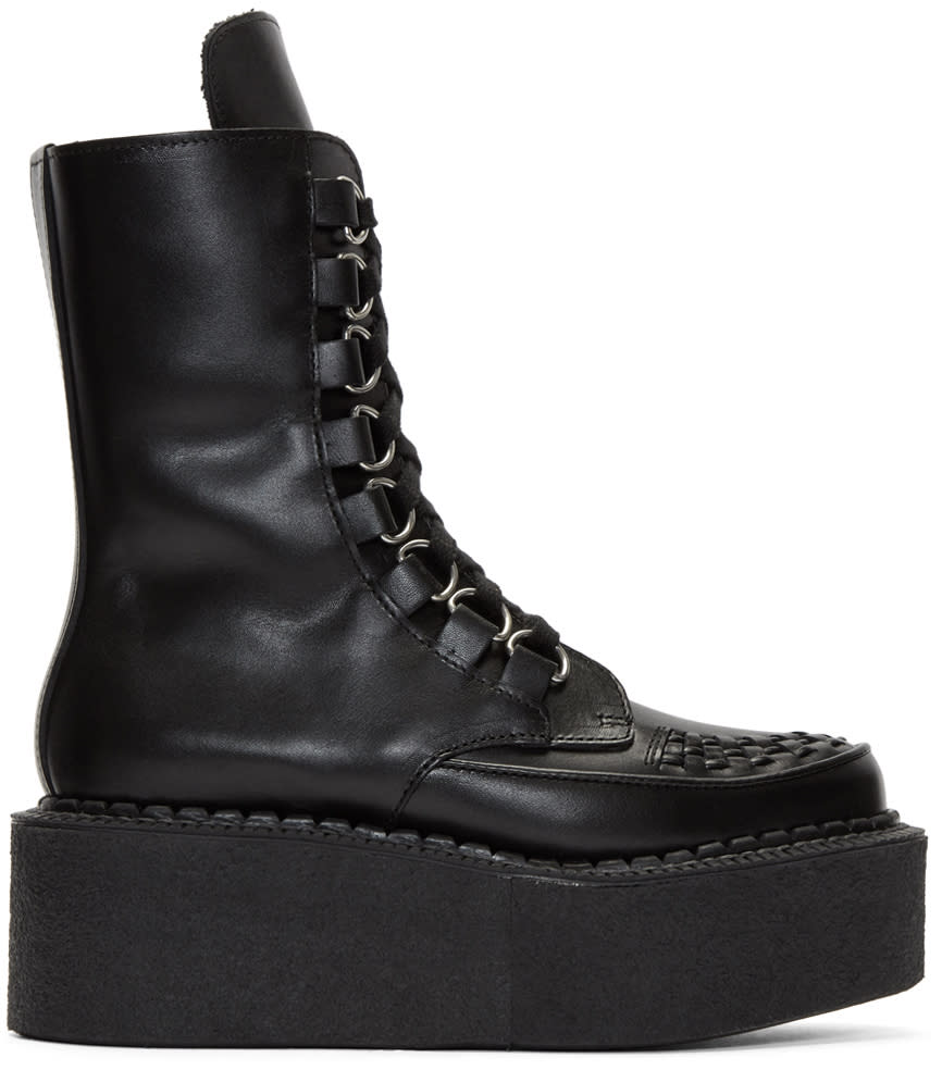 Junya Watanabe Black Platform Creeper Boots
