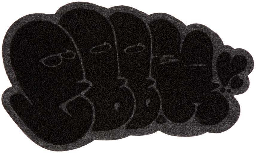 Image of Junya Watanabe Black and Grey Wappen 8b Badge