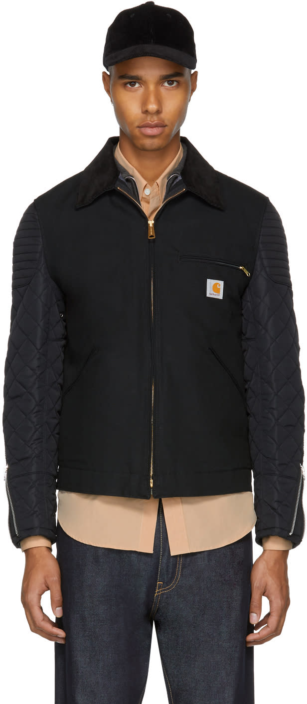 Image of Junya Watanabe Black Carhartt Edition Customized Detroit Jacket